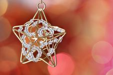 Free Little Star Decoration Against Blurred Background Royalty Free Stock Image - 17014316