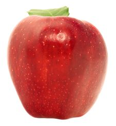 Free Red Apple In A Speck Stock Image - 17014341