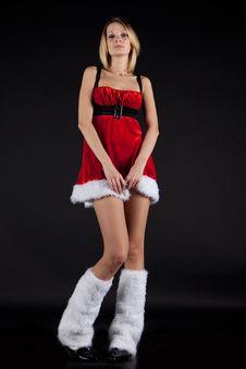 Free Christmas Girl Stock Photography - 17014392