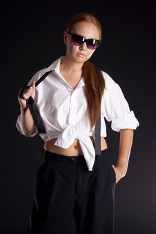 Free Serious Girl In Sunglasses Stock Photo - 17014400