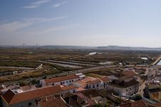 View On Old Portugal City, Castro Marim, Portugal Stock Photo
