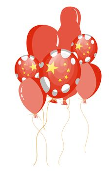 Free Red Balloon Of Chinese Flag Royalty Free Stock Image - 17014606