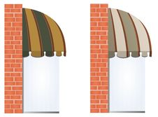 Free Vector Awnings Stock Photos - 17014613