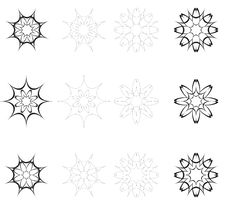 Free Abstract Flowers For Design Black And White Royalty Free Stock Images - 17014919
