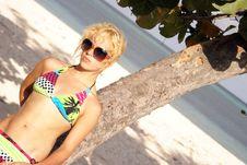 Free Girl In A Bikini Royalty Free Stock Image - 17015126