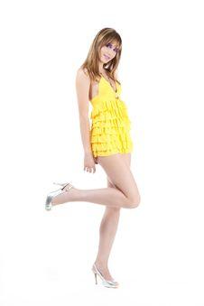 Free Beautiful Girl On White Background Stock Photos - 17015343