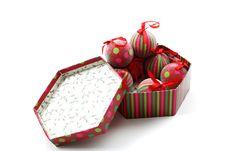 Balls In Box Stock Image