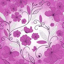 Free Seamless Floral Pattern Stock Photos - 17017423