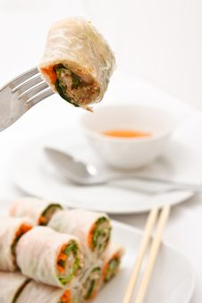Free Vegetables Roll In Vietnamese Style Royalty Free Stock Photos - 17017498