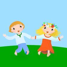Free Happy Couple Boy And Girl Stock Photos - 17017743