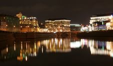 Russia, Moscow Center, Night View (panorama) Royalty Free Stock Images