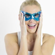 Woman With Facial Mask Royalty Free Stock Photography