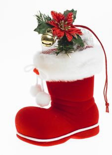 Free Christmas Boot Stock Photography - 17019182