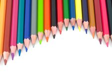Free Assortment Of Coloured Pencils Stock Photo - 17019280