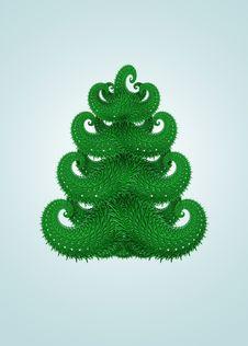 Free Abstract Green Christmas Tree Royalty Free Stock Image - 17019896