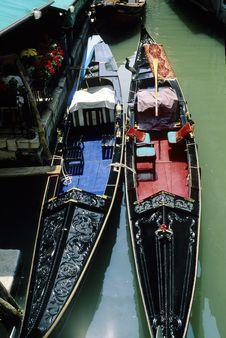 Free Two Gondolas In Venice Stock Photo - 17019930
