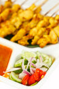 Free Satay, One Of Most Famous Thai Food Stock Photography - 17021162