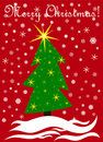 Free Christmas Tree And Snow Stock Image - 17022271