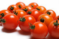 Free Many Beautiful Red Cherry Tomato Isolated Royalty Free Stock Photography - 17024477
