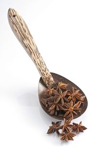 Free Star Anise Spoon Stock Image - 17020111