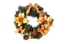 Free Christmas Wreath Royalty Free Stock Photos - 17020138