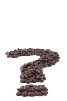 Free Question Mark Sign Of Coffee Beans Stock Photography - 17020382