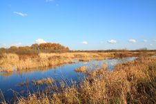 Free River On Autumn Field Royalty Free Stock Photos - 17020458