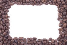 Free Frame Of Dark Roasted Coffee Beans Royalty Free Stock Images - 17020549