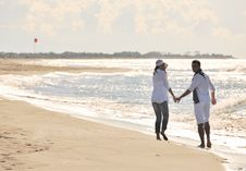 Free Happy Young Couple Have Fun At Beautiful Beach Stock Photography - 17020662