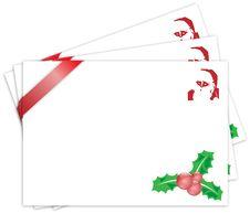 Free Christmas Holly Decoration Postcard Santa Claus Stock Photos - 17020933
