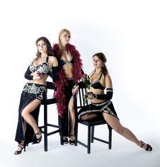 Free Three Woman In Tango Costume Stock Photo - 17021220