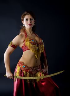 Free Mature Woman With Saber Stock Photos - 17021243