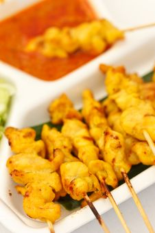 Free Satay, One Of Most Famous Thai Food Royalty Free Stock Image - 17021396