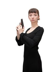 Free A Girl And A Gun Stock Image - 17021851