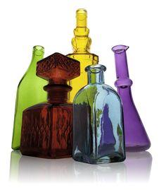 Free Five Glass Bottles Stock Photo - 17021950