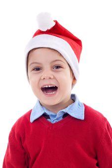 Free Boy As Santa Claus Royalty Free Stock Photos - 17022478