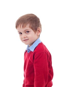 Portrait Of An Adorable Young Boy Stock Photo
