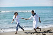 Free Happy Young Couple Have Fun At Beautiful Beach Royalty Free Stock Photo - 17022585