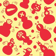Snowman Seamless Patterns Royalty Free Stock Images