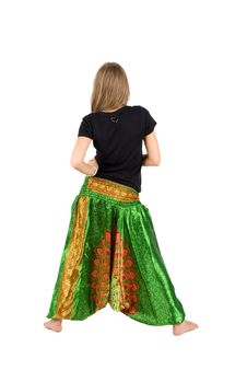 Free Girl In Ethnic Trousers Royalty Free Stock Photography - 17022967