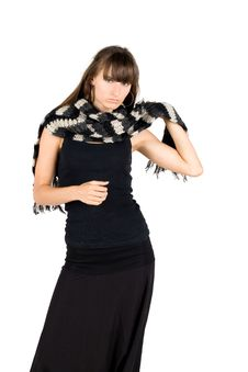 Free Girl In Warm Scarf Stock Images - 17023084