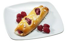 Raspberry Danish Pastry Stock Photography