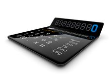 Free Black Calculator 3D Stock Photography - 17023912