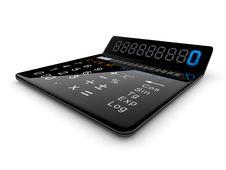 Black Calculator 3D Stock Photography