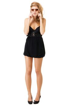Free Funny Model In Little Black Dress Stock Photography - 17024072