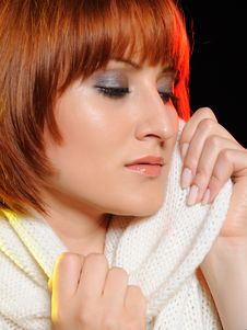 Beautiful Woman Face With Natural Make-up Stock Image