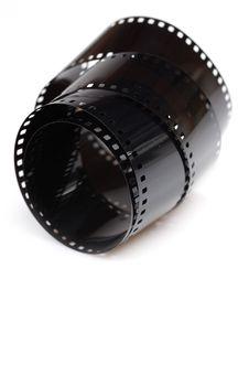 Free Black Photo Film Isolated On White Background Stock Images - 17024404