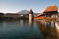 Lucerne Chapel Bridge Royalty Free Stock Photography