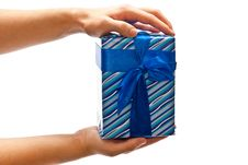 Free Present In Hands Royalty Free Stock Photography - 17024767