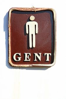 Free Male Restroom Sign Stock Photo - 17025130
